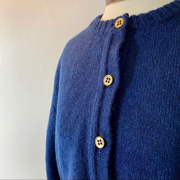 Pendleton Sweaters - Pendleton Vintage Navy 100% Virgin Wool Sweater L